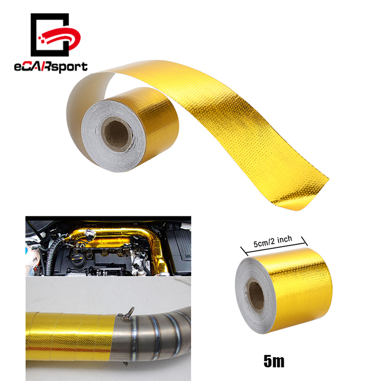 eCARsport Exhaust Header Turbo Manifold Heat Shield Wrap Tape Adhesive Backed