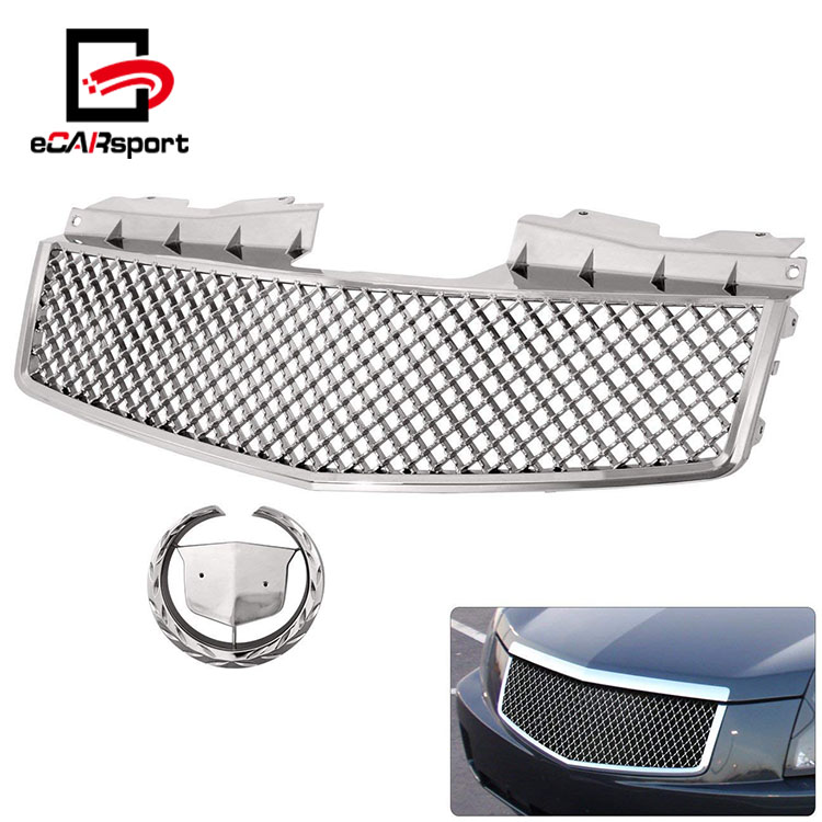 eCARsport Abs Chrome Front Bumper Upper Center Hood Grille For 03-07 Cadillac CTS
