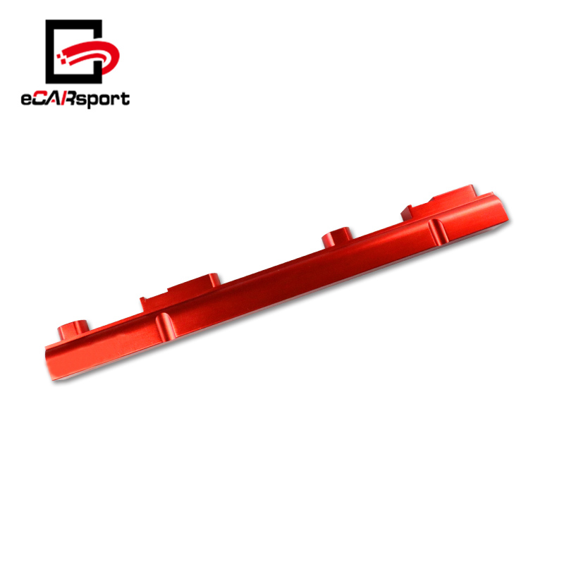 eCARsport Aluminum Red Top Feed Fuel Rail For 1995-1998 Nissan 240SX S14 S15 SR20DET