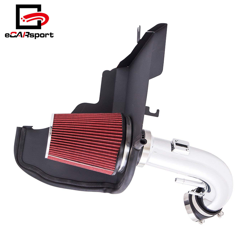 Ford Mustang 2011-2014 5.0L V8 Air Intake Scratch Resistant Black with Heat Shield Chrome