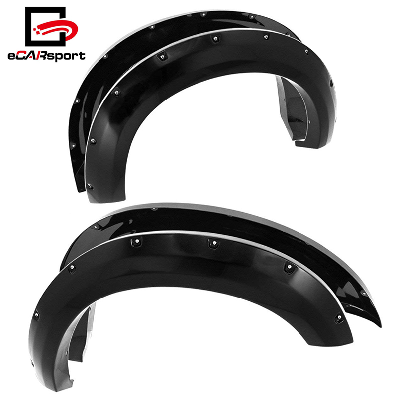 Ford F250/350 08-2014 Super Duty Abs Pocket Rivet Style Wheel Well Fender Flares