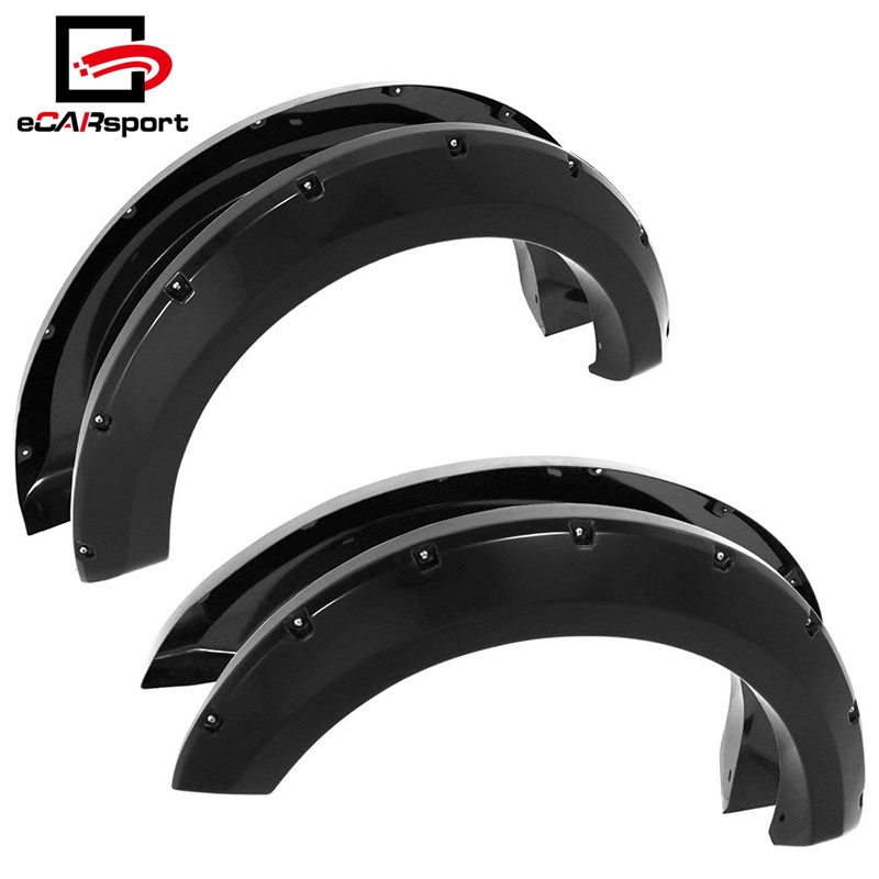 04-08 Ford F150/07-08 Lincoln Mark LT ABS Pocket Rivet Style Wheel Well Wide Body Fender Flares Trim