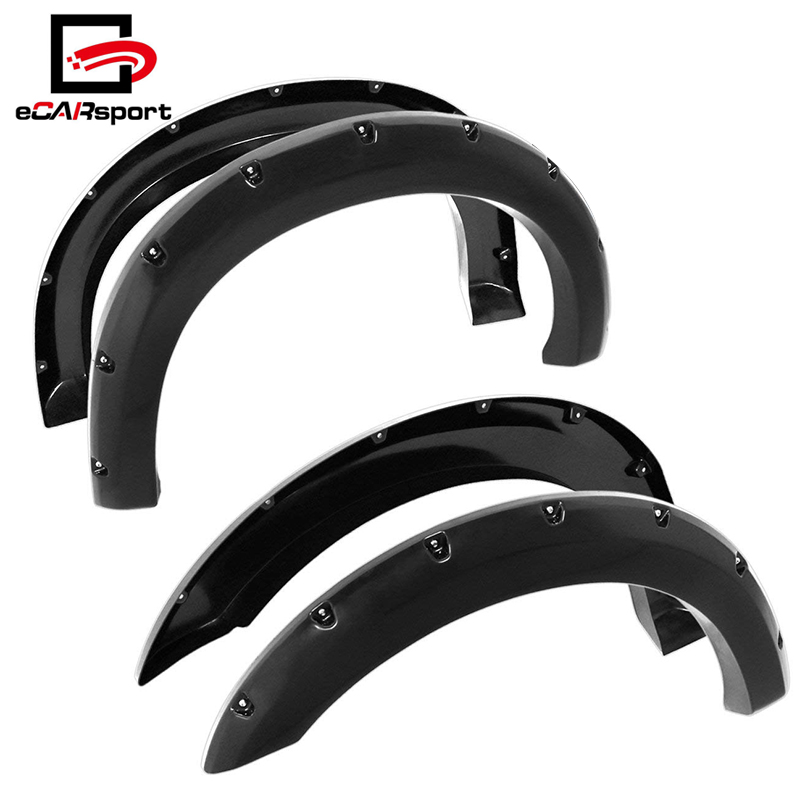 Ford F250 SD 99-07 Ford F250/350 99-07 Super Duty Abs Pocket Rivet Style Wheel Well Fender Flares