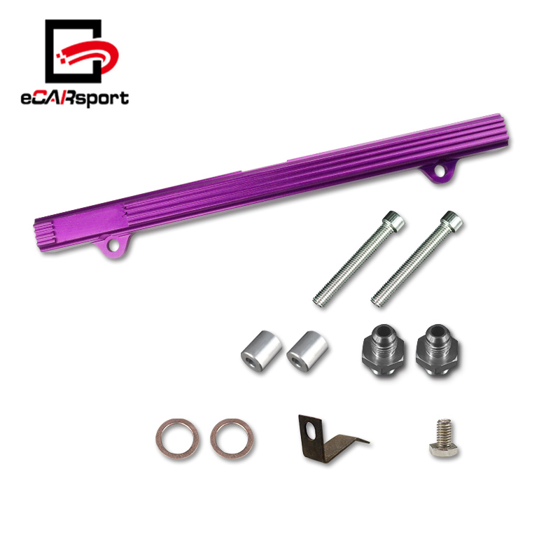 eCARsport Universal Aluminum Top Feed Fuel Rail For 4G63 Engines