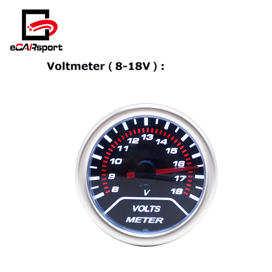eCARsport 52mm 8V 18V Voltmeter
