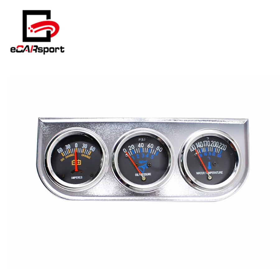 eCARsport Universal 52MM 3 In 1 Car Meter