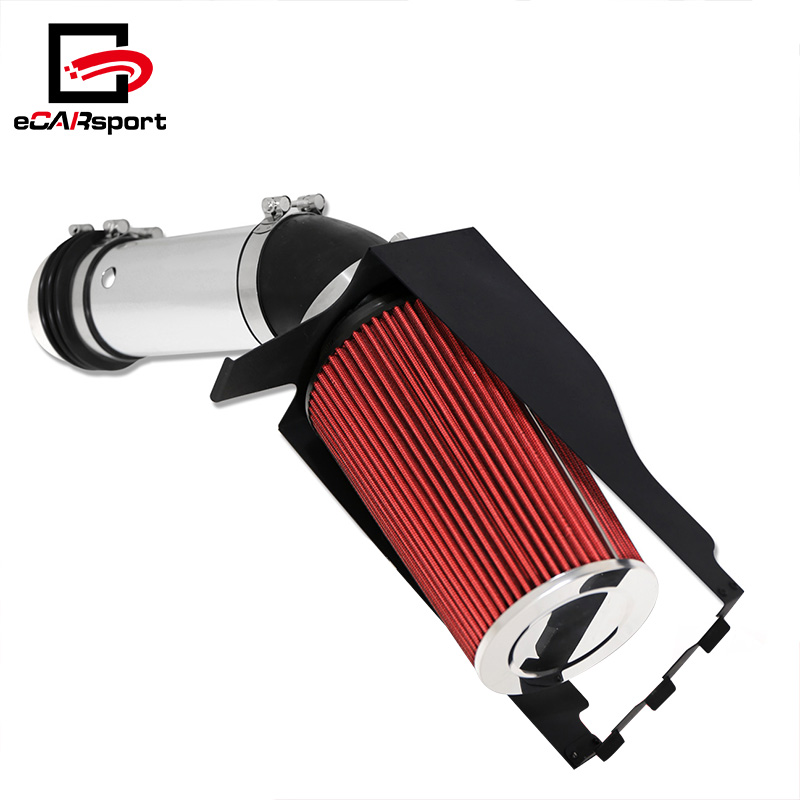 eCARsport Racing Air Intake Aluminum Chrome Pipe + Heat Shield System For 99-02 Toyota 4Runner 3.4L