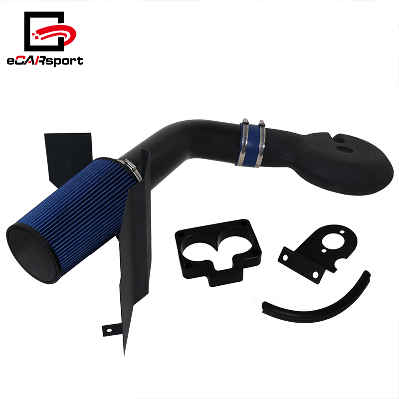 eCARsport Auto Aluminum Black Cold Air Intake Pipe + Heat Shield For Dodge Dakota/Durango